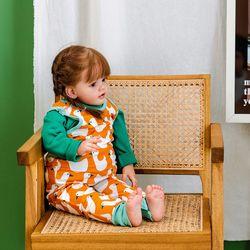 점프수트  오리오렌지 아기 점프슈트 신생아점프슈트 롬퍼