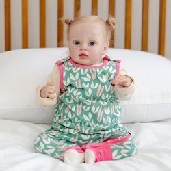 점프수트 하트 아기 점프슈트 신생아점프슈트 롬퍼