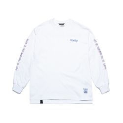 GALLOP OVERSIZED LONG SLEEVES T-SHIRTS WHITE