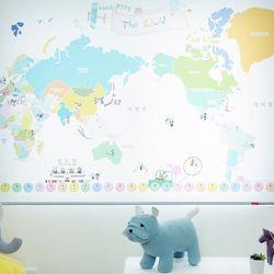 롤스크린-세계지도 블라인드[ Roll Screen-A map of the world ]