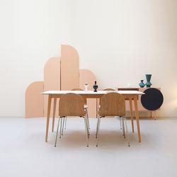 무이 원목 HPL 화이트 식탁 테이블