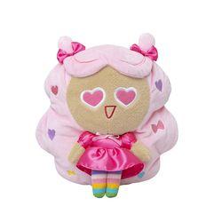 [쿠키런X하이바이마마 공식] 차유리 하트눈뿅뿅 솜사탕 핑크인형