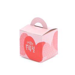 그레이스벨 부활절 1구 손잡이박스(10매)하트612