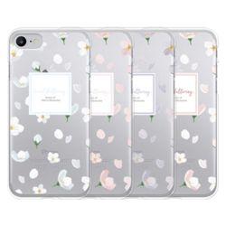 LG G7 G8 V40 V50 S X2 벚꽃 클리어 스마트폰 케이스