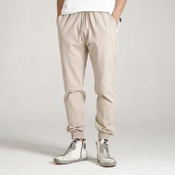 (UNISEX)Creamy Jogger Sweatpants(BEIGE)