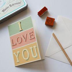 카드-I love you typography
