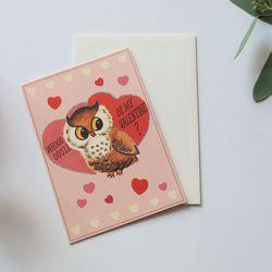 카드-valentine owl
