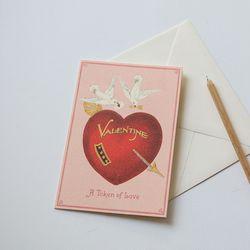 카드-valentine bird
