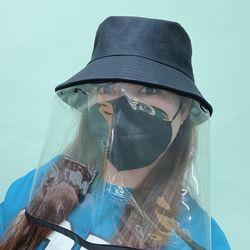 예예코리아 모자 투명 비닐 마스크 앞면커버