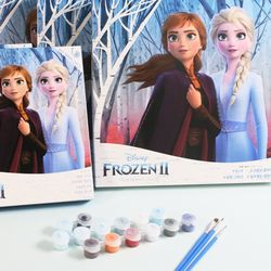 디즈니피포페인팅 DIY 명화그리기 겨울왕국 20X20