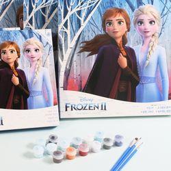 디즈니피포페인팅 DIY 명화그리기 겨울왕국 25X25