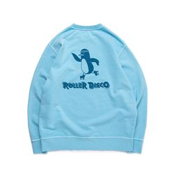 [예약판매 4/13순차배송] ROLLER DISCO PENGUIN SWEAT (BEACH BLUE)
