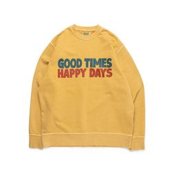 [예약판매 4/13순차배송] GOOD TIMES SWEAT (SAND YELLOW)