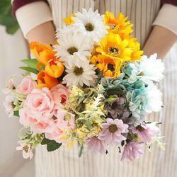 [사은품 증정] 러블리 플라워 부쉬 6종 조화 인테리어 꽃 부케 셀프웨딩 홈데코