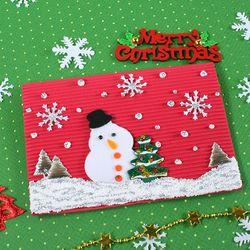 화이트크리스마스 눈사람카드(10set)