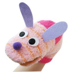 양말 손인형 만들기 세트 - 줄무늬 토끼(고양이)
