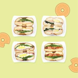 베이글 샌드위치 4종 세트