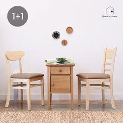 [2개세트] 원목식탁의자 R039