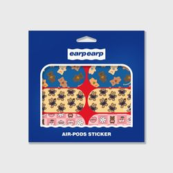 Earpearp air pods sticker pack-red