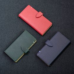 아이폰11 엠보 스냅 지갑형 케이스 버튼