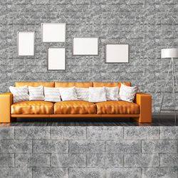 폼블럭B 마블그레이 220cm쿠션벽돌단열벽지벽돌
