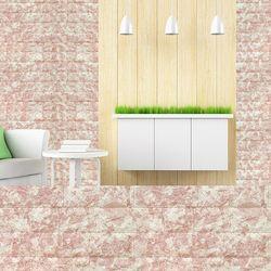 폼블럭B 마블브라운 45cm쿠션벽돌단열벽지벽돌
