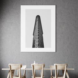 플랫아이언 뉴욕 그림 액자 50x70 포스터+이케아액자