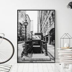 서브웨이 뉴욕 그림 액자 A3 포스터