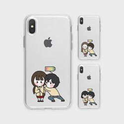 배터리주기A 아이폰8플러스정품 투명 케이스 갤럭시J7