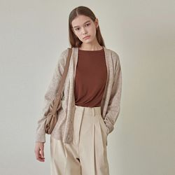 SPRING CASHMERE CARDIGAN OATMEAL