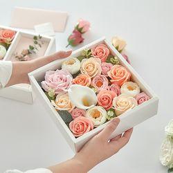 플라워 용돈박스 돈말이 비누꽃박스 4종