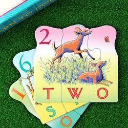 애니멀 카운팅 짝맞추기 퍼즐 3세이상 동물영어 숫자