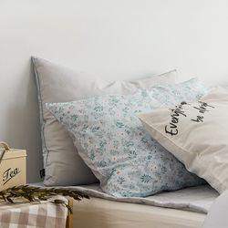 레나 블루 60수아사면 베개커버(50x70)