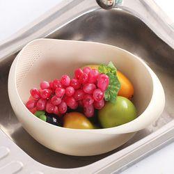 과일 야채 채소 씻는 도구 쌀씻는 볼 쌀 바가지 채반
