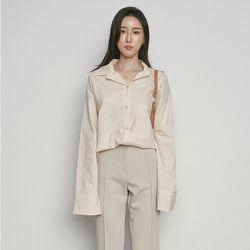 W3337 TS-box poket shirts beige