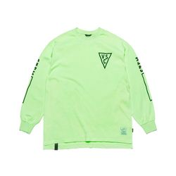 INFAMOUS PIGMENT OVERSIZED LONG SLEEVES T-SHIRTS NEON GREEN