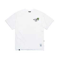 FORK OVERSIZED T-SHIRTS WHITE