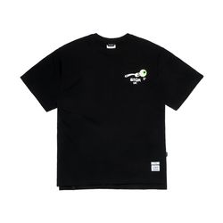 FORK OVERSIZED T-SHIRTS BLACK