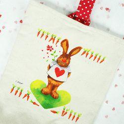 냅킨아트 에코가방 땡땡이 손가방(10set)