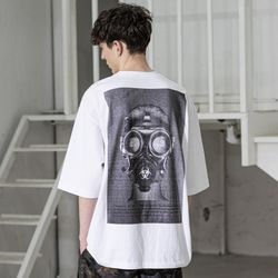 매스노운 바이오로지컬 오버사이즈 반팔 티셔츠 MSZTS002-WT