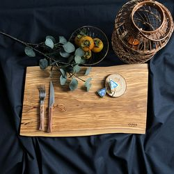 올리비아(OLIVIA)이탈리아산 올리브 통원목 도마 특대형