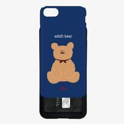 adult bear navy 카드슬라이드 케이스