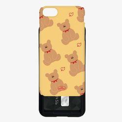 adult bear pattern yellow 카드슬라이드 케이스