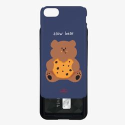navy cookie slow bear 카드슬라이드 케이스