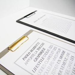 에코&골드 클립보드 메뉴판 A4-대