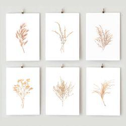 휴아트 트랜디 포스터 식물포스터 6종 택1