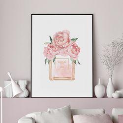 향수 모란 꽃 그림 액자 A3 포스터