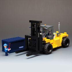 1:40 250D-9지게차모형조립블럭키트346P (217SM0015)