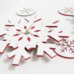 크리스마스 눈꽃 벽시계