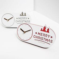 크리스마스 눈꽃 탁상시계